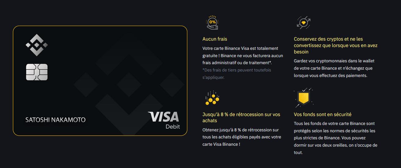 binance card infos